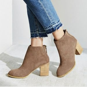 Urban Outfitters Short Suede Ankle Boots